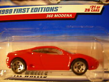 Hot Wheels Ferrari 360 Modena 1999 First Editions #21 of 26 Red