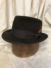 fd4eb847e95ab Adam Fifth Ave Quality Dark Charcoal Classic 1950s Fur Felt Fedora Hat - 7 1