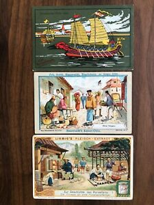 3 X CHINA OLD CARD COLLECTION LOT SHIP PEOPLE PORCELAIN TSINGTAU !!