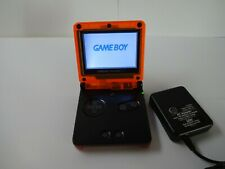 Game Boy Advance SP AGS 001, Neon Orange Black Red with Charger