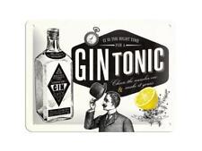 Nostalgic-Art - Blechschild 15 x 20 cm - Gin Tonic