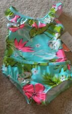 Carter's Baby Girl 2pc Swimsuit Tankini Rashkini -12 Months -Flowers NWT UPF 50+