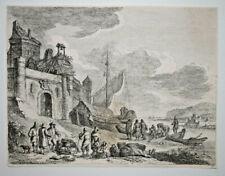 Franz Edmund Weirotter GRAVURE EAU FORTE Peche Bateau Barques MARINE XVIII°