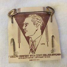 Antique Men'S Collar Comfort With Stiff Collar Appearance On Original Card