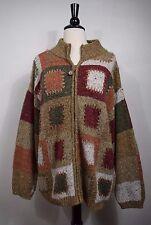 Dressbarn Cardigan Sweater Fall Themed Zippered  Long Sleeves Women's Size 22/24