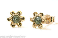 9ct Gold Blue Topaz stud earrings Made in UK Gift Boxed