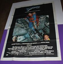 SUPERMAN MOVIE POSTER ORIGINAL ONE PANEL ITALIAN CHRISTOPHER REEVE