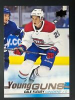 2019-20 UD Young Guns Rookie Cale Fleury