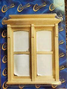 Dollhouse Miniature Yorktown Double Window, non working 1:12