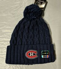 Montreal Canadiens Knit Beanie Toque Winter Hat Skull Cap NEW Solid Women's Pom