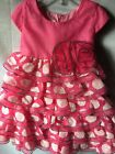 Isobella and Chloe Girls Pink Dotted Ruffle Empire Waist Party Dress Sze 18M-New