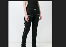 Faith Connexion black coated biker pants, NWT, size 26, retailed for $1540.00