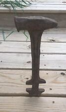 VTG CAST Iron Automobile Car Automotive Hammer Antique Forged WRENCH COMBO TOOL