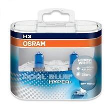 Osram Cool Blue Hyper Plus H3 Headlight Bulb Globe Front PK22s 12V Pair H3