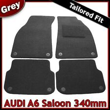 Audi A6 Saloon (2004 2005..2011) 340mm Tailored Fitted Carpet Car Mats GREY