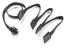 PCI-E 6pin to 4 SATA 15pin modular power cable for seasonic X-650 X-750 X-850