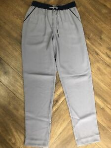 Whistles Grey Smart Jogger Waist Trousers Size 6 With Pockets