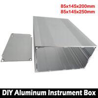 85x145x250mm Aluminium Industriegehäuse Leergehäuse PCB Instrument Gehäuse Box