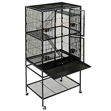 """63"""" Large Bird Cage Chinchilla Cockatiel Conure House Parrot Pet w/ 2 Ladders"""