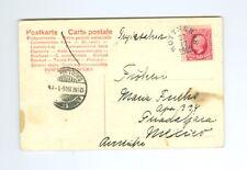 SWEDEN: Postcard to Mexico  1905 scarce destination. Arr.canc.