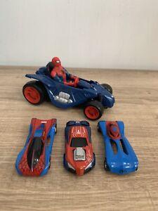 SPIDER-MAN MAJORETTE DIE-CAST CARS X3 + SPIDER-MAN CAR & FIGURE IN VGC
