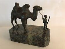 Theodore Alexander Verdigris Brass Marble Base Camel Statue Figurine