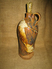 Art Pottery Decanter - 12 Inches Tall - Partially Glazed