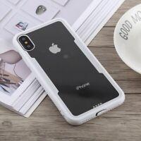 Schutzhülle für iPhone X Cover Case Panzer Hülle Tasche Transparent Weiß