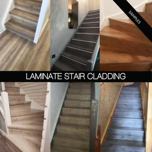 Stair Cladding Premium AC5 Laminate SAMPLE - 15 Colour Ranges - Treads + Risers