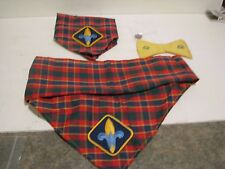 Vintage Girl and Boy scout lot.  bow tie. pin   2  KERCHIEF