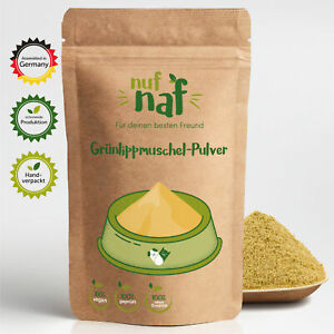 Nufnaf green lipped mussel powder 100g pure without additives for dog cat joints