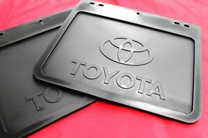 TOYOTA HILUX ALLOY TRAY MUDFLAPS PAIR FROM FEB 2005> GENUINE ACCESSORY EXP POST