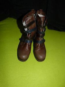 Mustang Damen Schuhe Schnürboots Damenschuhe Boots Damenboots Schnürer 1367-502