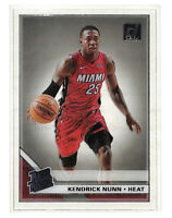 2019-20 Panini Donruss Clearly #96 Kendrick Nunn Rated Rookie RC card Heat