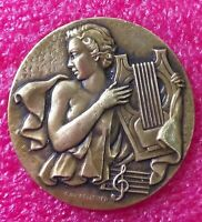 Ray Pelletier (1907-1958) Nude Muse French Art Deco bronze medal 50mm,59gr