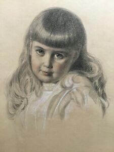 ANTHONY FREDERICK AUGUSTUS SANDYS - Fine Pre-Raphaelite Pencil & Chalk Drawing
