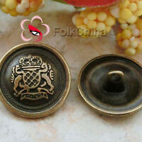 Brass Royal Insignia 20mm  Metal Buttons Sewing Collectable Craft MB016