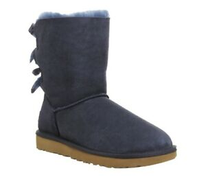Ugg Boot Size 5 Navy Blue Bailey Bow