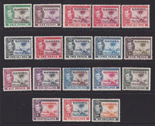 Gambia. 1938-46. SG 150-161 + shades, 1/2d to 10/-. Mounted mint.