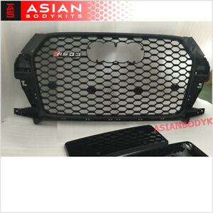 for AUDI Q3 8U Facelifted RS style FRONT GRILLE Honeycomb Mesh black 2016-2018