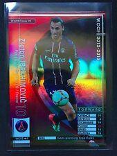 2012-13 Panini WCCF World Class CF Zlatan Ibrahimovic refractor card PSG