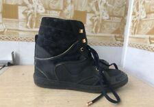 Dark blue leather Louis Vuitton high-top sneakers