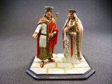 figurine d'art en plomb VANOT Hugues Capet + Adélaïde d'aquitaine fine peinture