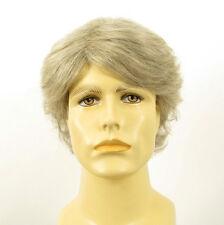 Perruque homme 100% cheveux naturel blanc méché gris ref JUSTIN 51