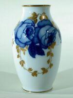 ROSENTHAL Jugendstil Art Nouveau Porzellan Vase mit Rosendekor