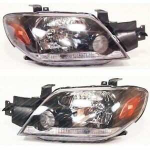 MITSUBISHI Outlander 2003-2005 front head lamps lights for LHD set  LH+RH  *