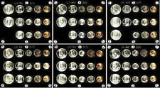 GORGEOUS COLLECTION OF 6 DIFFERENT GEM 1947 to 1953 P,D&S U.S. SILVER MINT SETS!