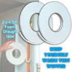 2 x Foam Draft Draught Excluder Tape Seal Doors Windows Weather Strip Insulation