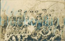 More details for ww1  wounded soldiers group photo with nurse and matron hospital blues