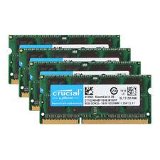 4pcs Crucial 8GB 2RX8 PC3L-12800S DDR3 1600MHz 1.35V Sodimm Laptop Memory RAM #Y